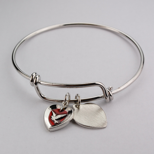 Adult Pewter Red Enameled Holy