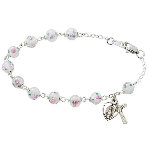 """7 1/2"""" White Venetian Bracelet"""