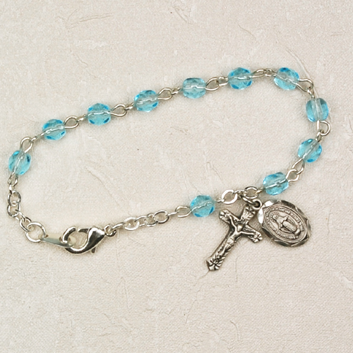 "5 1/2"" Aqua Baby Bracelet"
