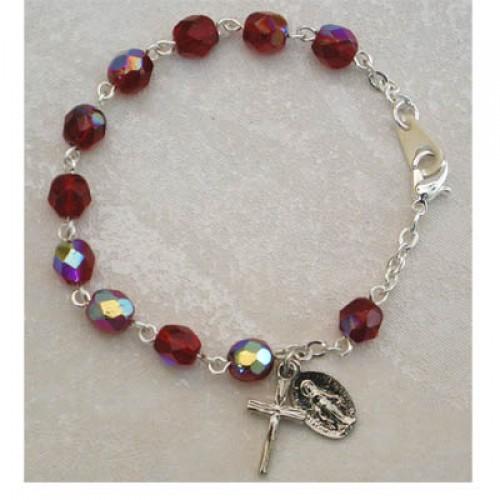 """6 1/2"""" Garnet Bracelet - Card"""