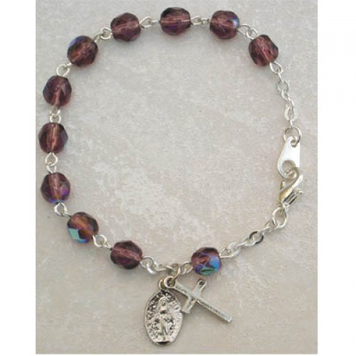 "6 1/2"" Dark Amethyst Bracelet"