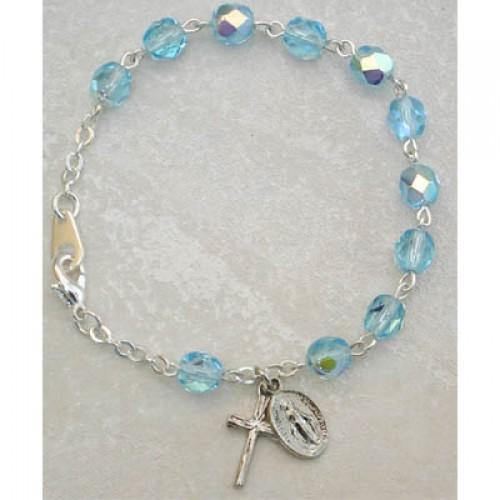 """6 1/2"""" Aqua Bracelet Carded"""