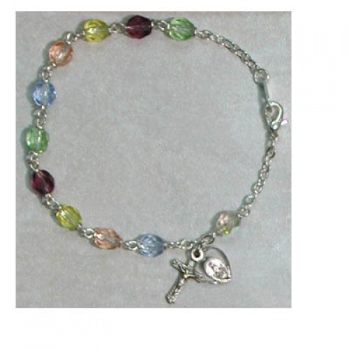 "7 1/2"" Multi Glass Bracelet"