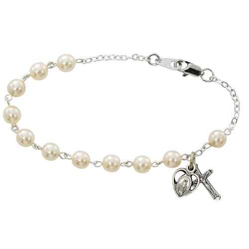 "7 1/2"" Glass Pearl Bracelet"
