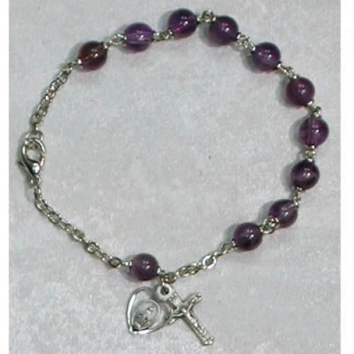 "7 1/2"" Amethyst Bracelet"