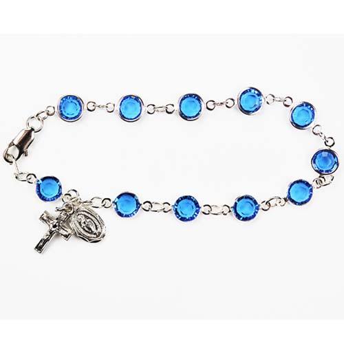 "7 1/2"" Blue Swarovski Bracelet"
