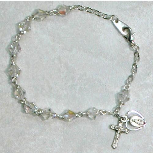 Sterling Silver Adult Crystal Ab Bracelet
