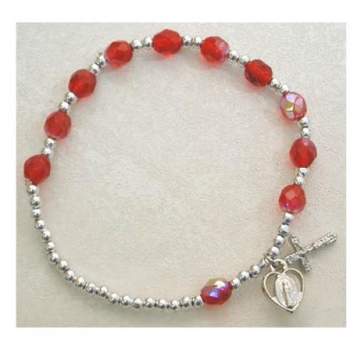 Ruby/July Stretch Bracelet