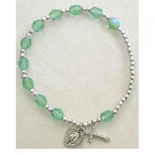 Peridot/August Stretch Bracelet