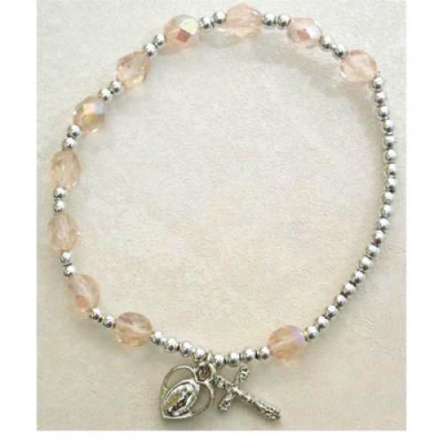 Rose/October Stretch Bracelet
