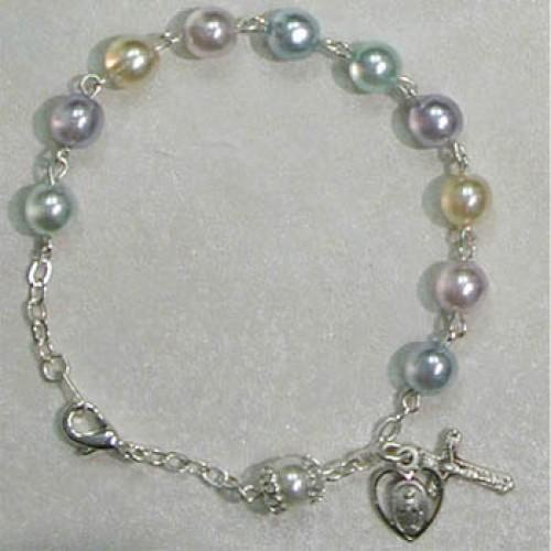 "7 1/2"" Multi Pearl Bracelet"