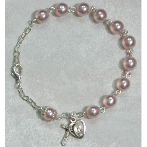 "7 1/2"" Pink Pearl Bracelet"