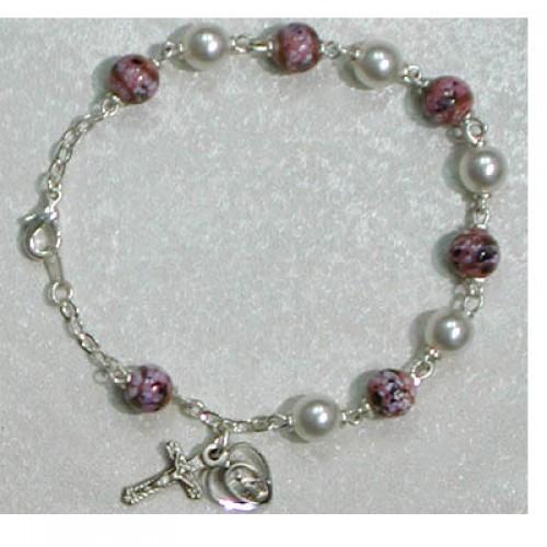 """7 1/2"""" Pearl/Venetian Bracelet"""