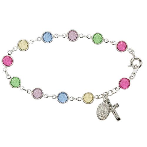 "7 1/2"" Multi Crystal Bracelet"