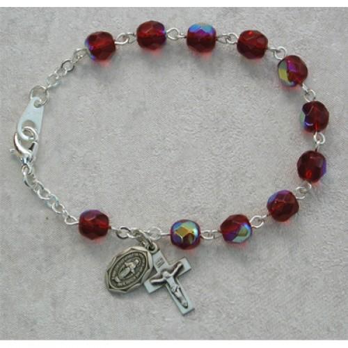 """6 1/2"""" Garnet Bracelet"""
