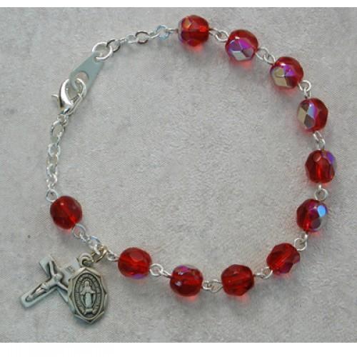 """6 1/2"""" Ruby Bracelet"""