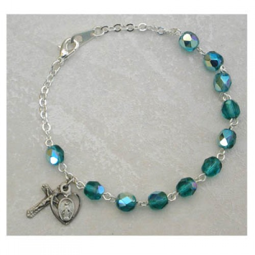 Sterling Silver Adult Emerald/May Bracelet
