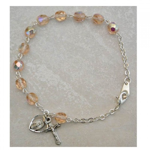 Sterling Silver Adult Rose/Oct Bracelet