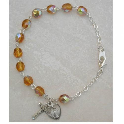 Sterling Silver Adult Topaz/Nov Bracelet