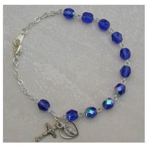 Sterling Silver Adult Zircon/Dec Bracelet