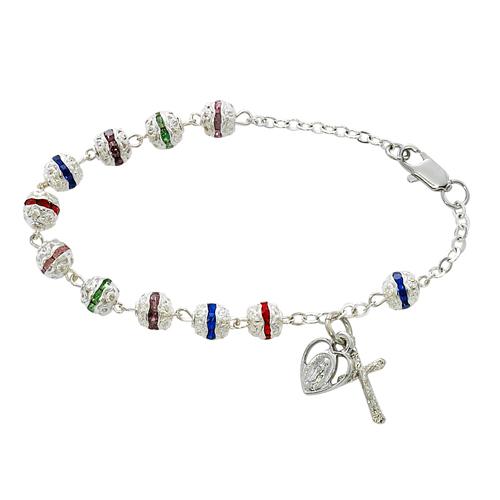 """7 1/2"""" Multi Capped Bracelet"""