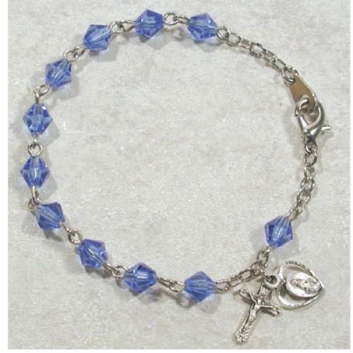 6MM Austrian Blue Crystal