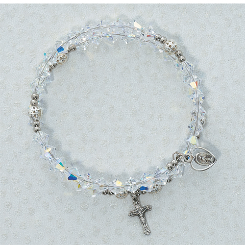 Deluxe 6MM Aust Crystal Wrap Bracelet