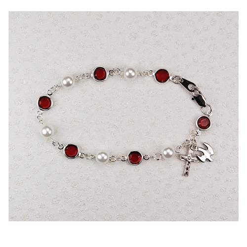 """7 1/2"""" Red/Pearl Holy Spirit"""