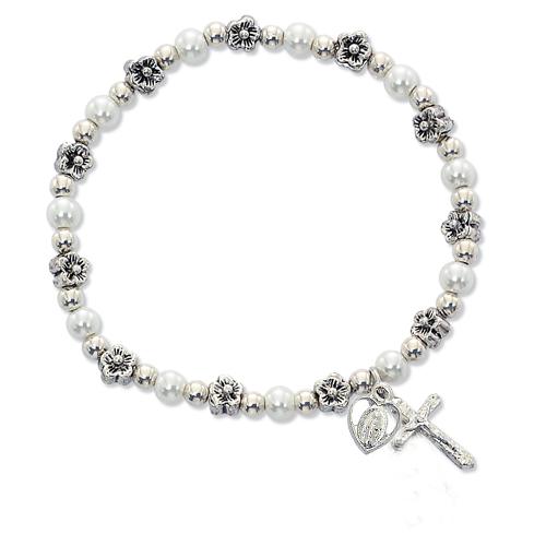 White Pearl Stretch Bracelet