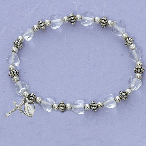 Crystal Heart Stretch Bracelet