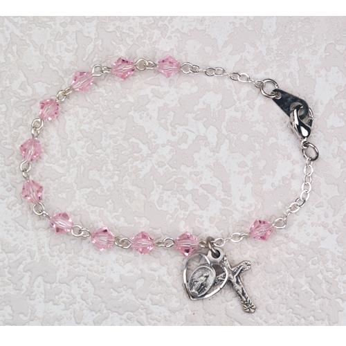"""6 1/2"""" Pink Tincut Bracelet"""