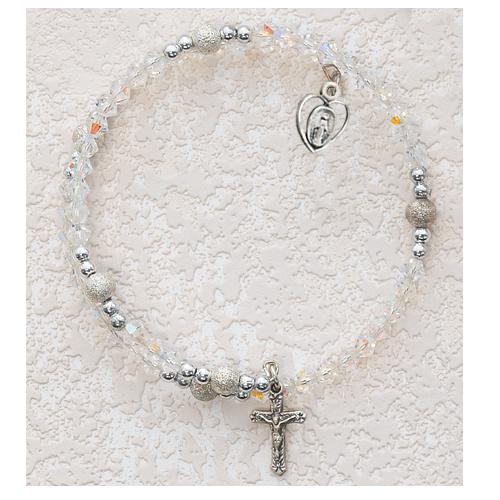 Sterling Silver 4MM Crystal Wrap Bracelet