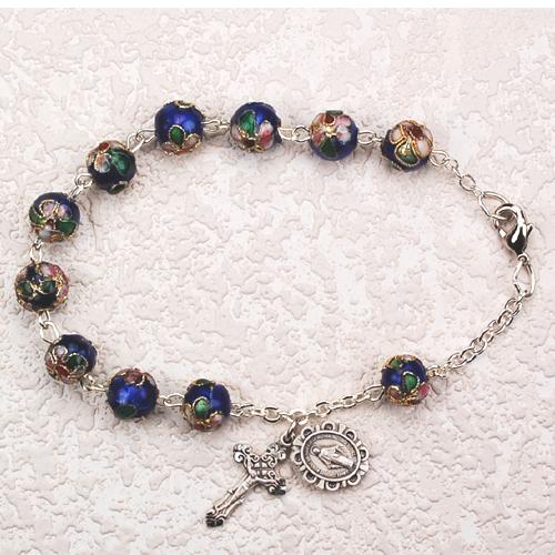 """7 1/2"""" Blue Cloisonne Bracelet"""