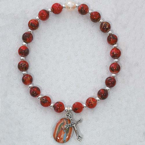 RedOur Lady of Guadalupe Stretch Brac