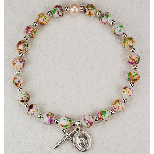 White Venetian Stretch Bracele