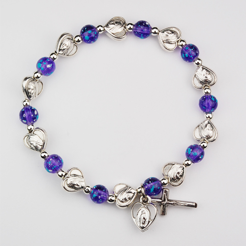 Purple Miraculous Stretch Bracelet