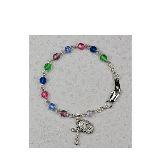 "Sterling Silver 5 1/2"" Multi Baby Bracelet"