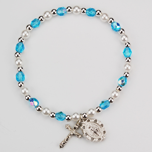 Youth Aqua Stretch Bracelet