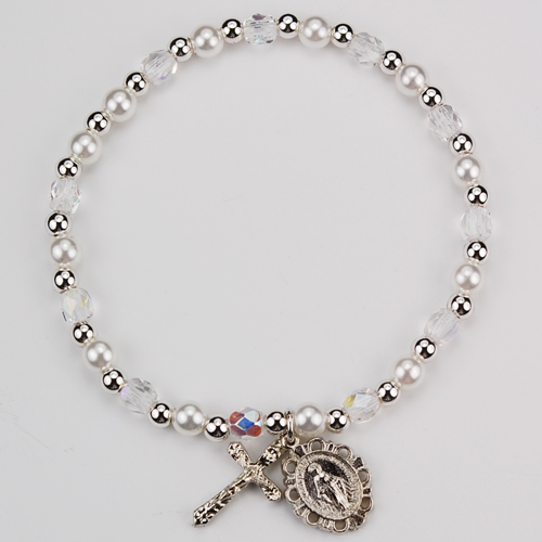 Youth Crystal Stretch Bracelet