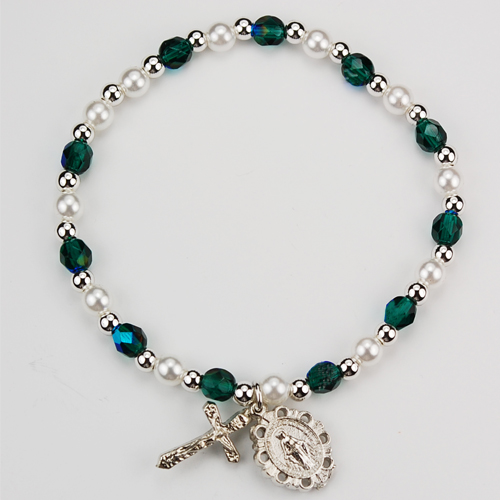Youth Emerald Stretch Bracelet