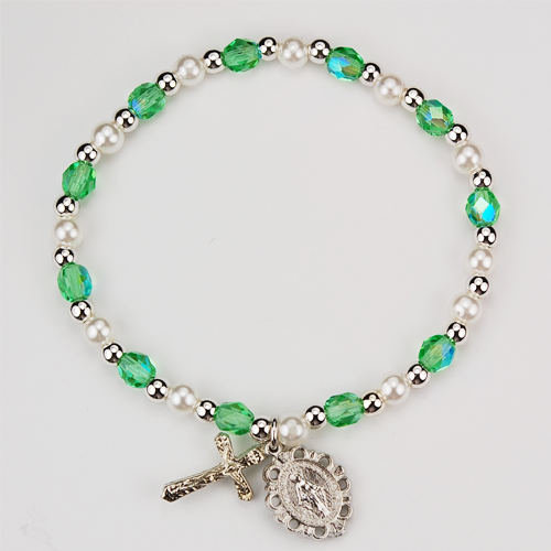 Youth Peridot Stretch Bracelet