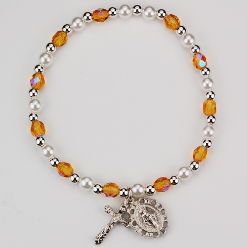Youth Topaz Stretch Bracelet