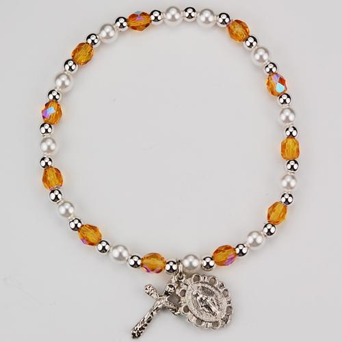 Youth Topaz Stretch Bracelet