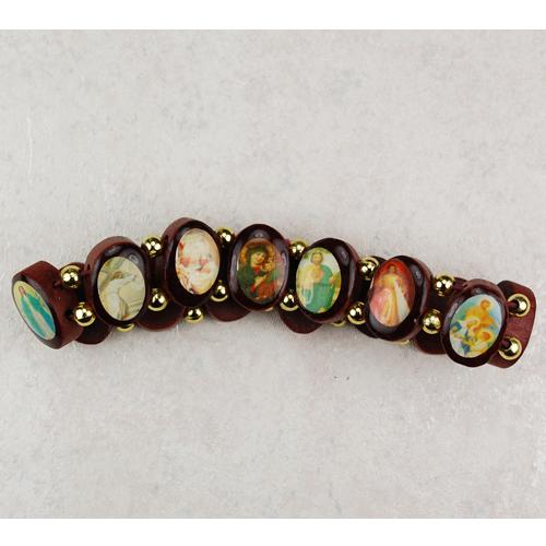 Wooden Saint Stretch Bracelet