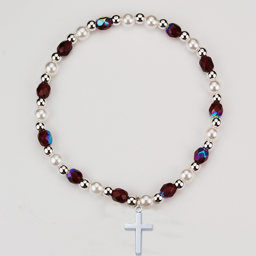 Youth Garnet Stretch Bracelet