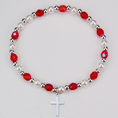 Youth Ruby Stretch Bracelet