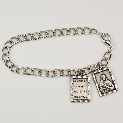 "7 1/2"" Scapular Charm Bracelet"
