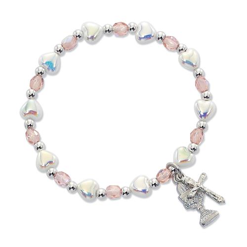 White Heart Stetch Bracelet