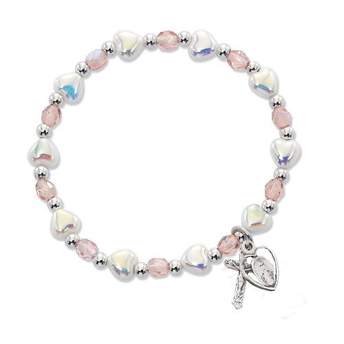White Heart Stetch Bracelet
