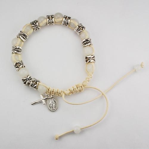 White Shamballa Bracelet